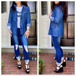 Fabulous Anorak Hooded Jean Jacket